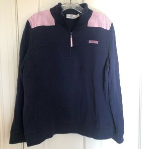 Vineyard Vines navy and pink sweatshirt